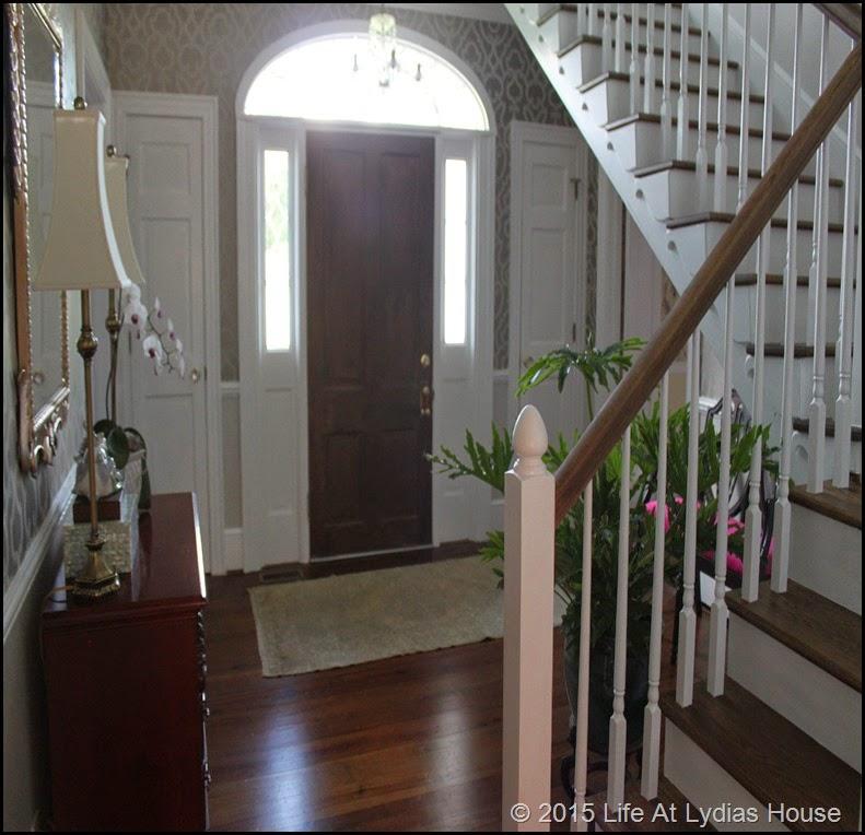looking toward the front door