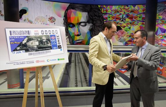 Un cupón de la ONCE homenaje a los 95 años del Metro