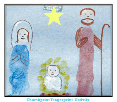 Thumbprint/Fingerprint Nativity Scene