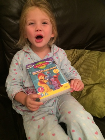 Maegan Clement enjoying Furchester DVD