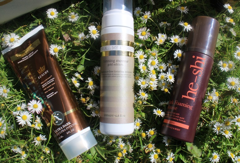 XenTan-AbsoluteLuxe-Ultra-Dark,ForAllMyEternity-TanningMousse-Gold-Edition,HeShi-Dark-Foaming-Mousse