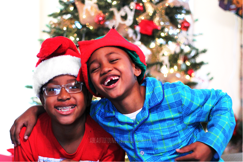 Christmas 2014 Cornell laughing with Isaiah