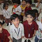 Children of Nursery, LKG and UKG in the Activity Hall - They learn, play and enjoy here.