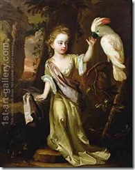 Portrait-Of-A-Young-Girl-With-A-Cockatoo