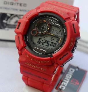 Jual jam tangan Digitec Mudman DG2028 red rubber Original