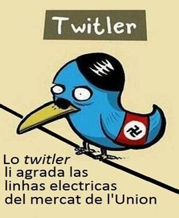 Twitter vision politica electricitat
