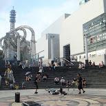 street performers in yokohama in Yokohama, Tokyo, Japan
