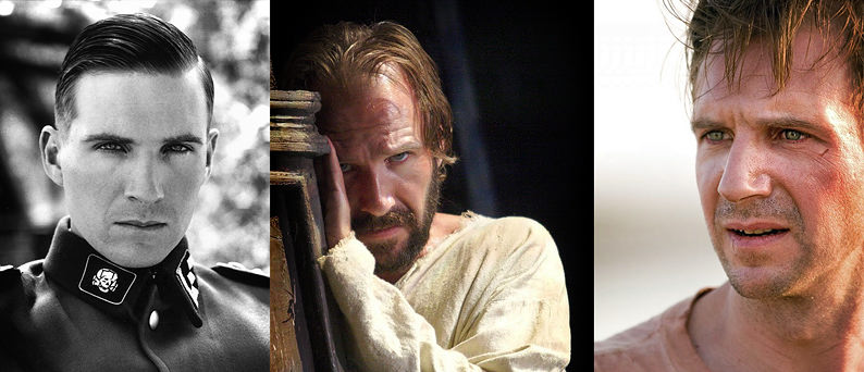Ralph Fiennes' Roles: Amon Goeth in Schindler's List, Prospero in The Tempest, Justin Quayle in The Constant Gardener