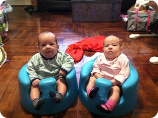 Twins in the Bumbo