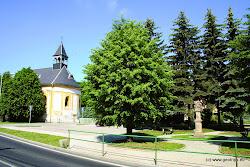 Barokní kostel sv. archanděla Michaela uprostřed obce byl postaven roku 1768, lidová plastika sousoší Nejsvětější Trojice je z roku 1704.