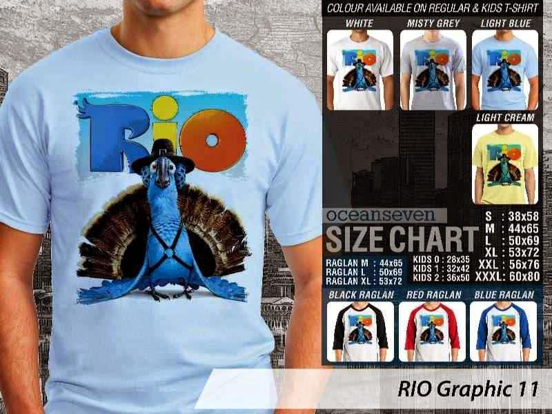 Kaos Film Animasi Lucu Desain RIO Graphic 11 distro ocean seven