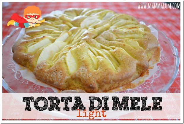 ricetta torta di mele light vegan