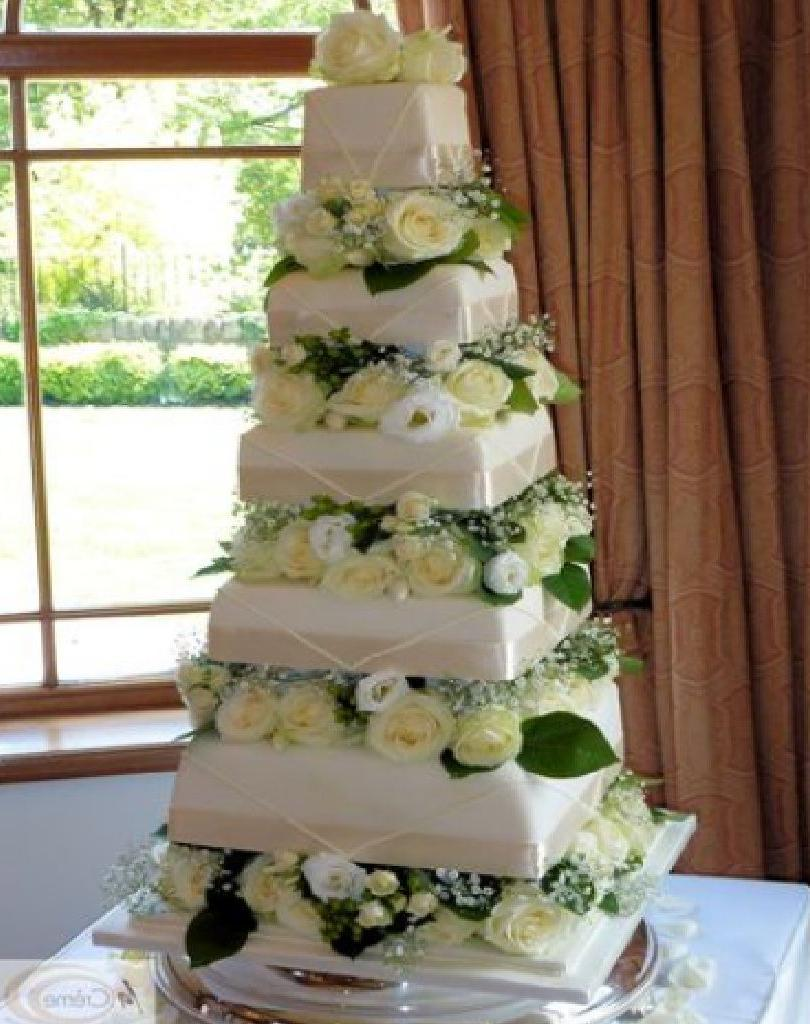 Square wedding cakes ideas