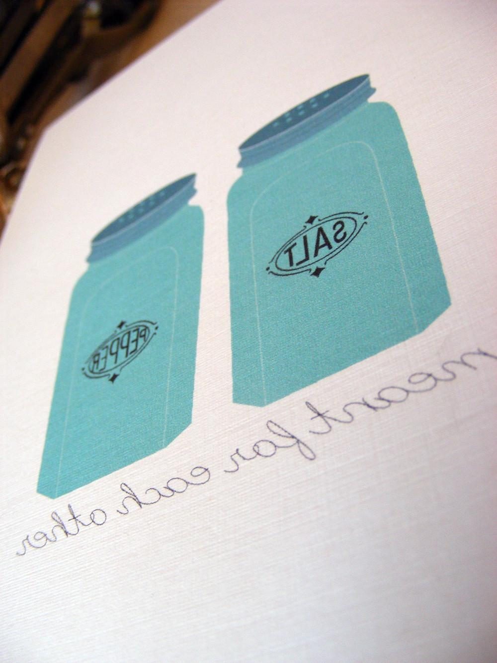 retro wedding: salt & pepper,