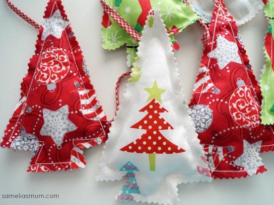Xmas Tree Bunting {Handmade Christmas}