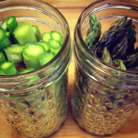 Canning pickled asparagus