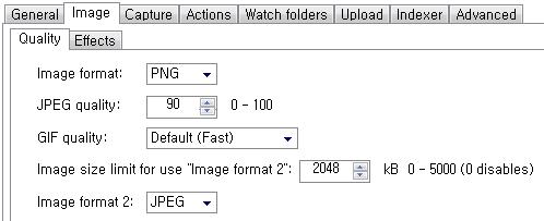 ShareX Task settings - Image - Quality