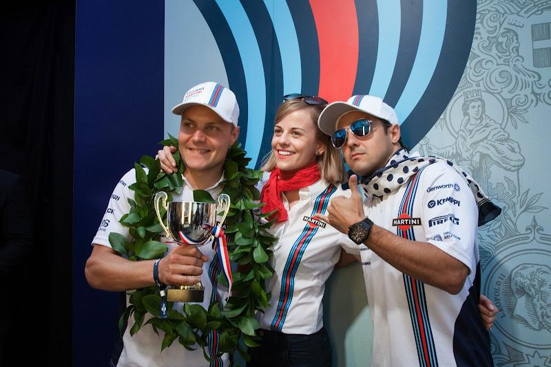 Вальтери Боттас, Сьюзи Вольфф и Фелипе Масса - команда Williams Martini Racing на Гран-при Италии 2014