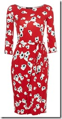 Max Mara poppy print jersey dress