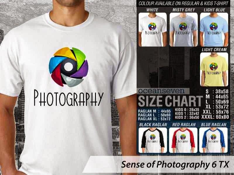 Kaos kamera Sense of Photography 6 Photography distro ocean seven