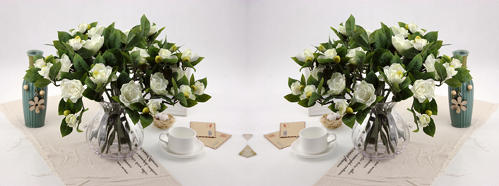vaso de flor de gardênia