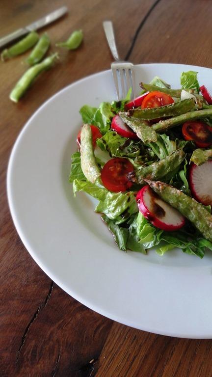 Sommer Salat mit Zuckerschoten