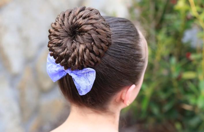 Peinados con recogidos para ninas