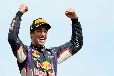 победный подиум Даниэля Риккардо на Гран-при Канады 2014