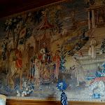 Fumoir : tapisserie tissée à Beauvais représentant l'empereur chinois Kangxi