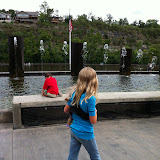 Dancing water fountain at Branson Landing in Branson MO 08182012-07