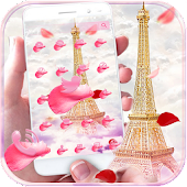 APK App Pink Rose Eiffel Tower Theme for BB, BlackBerry