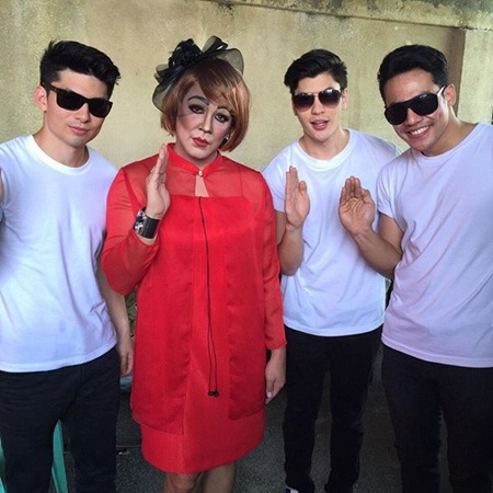 Tidora (Paolo Ballesteros) with her Bernardos - Corbin Edmonds, Kyle Perry and Joco San Juan