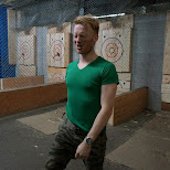 defeat at BATL axe throwing Toronto in Toronto, Ontario, Canada