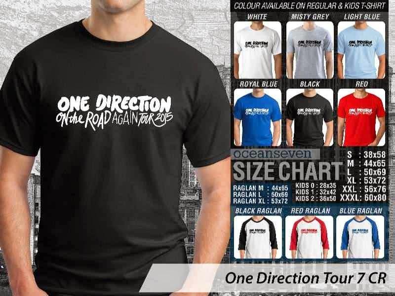 Jual kaos 1D One Direction Tour 7