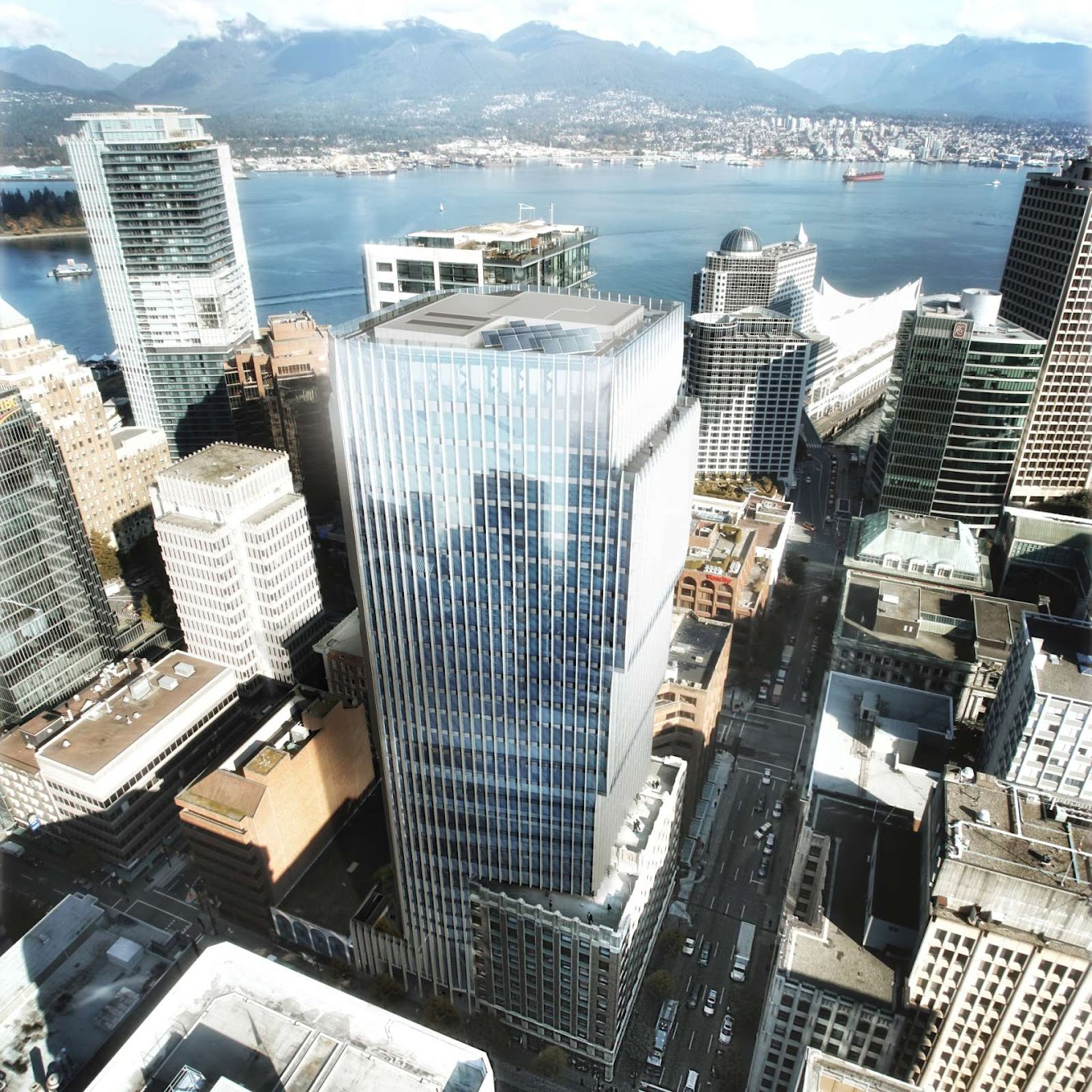 Vancouver, Columbia Britannica, Canada: The Exchange Tower by Harry Gugger Studio