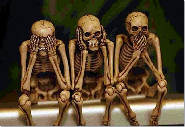 Skeletons- See No, Hear No & Speak No