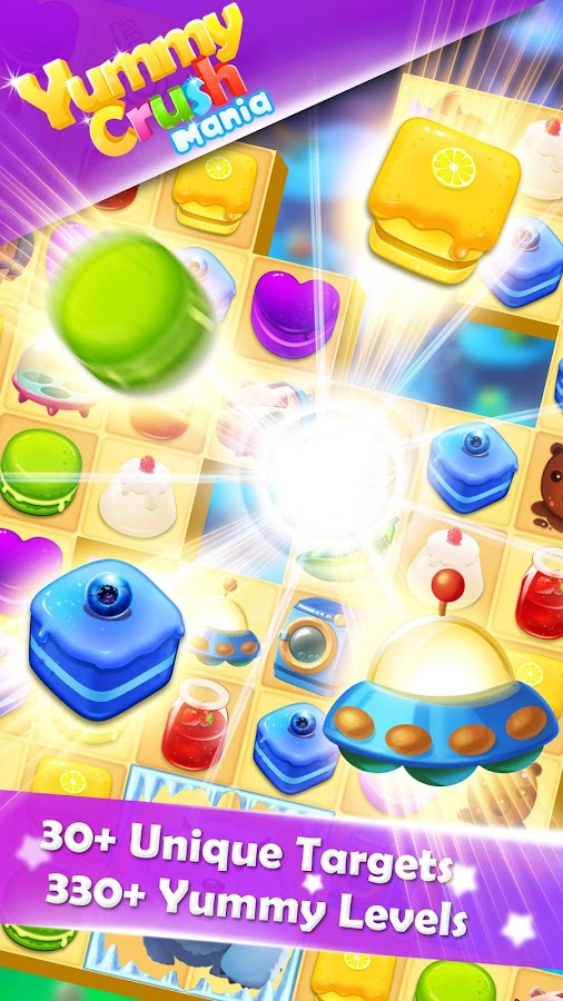Yummy Crush Candy - Match 3 with Gummy Candies Screenshot 1