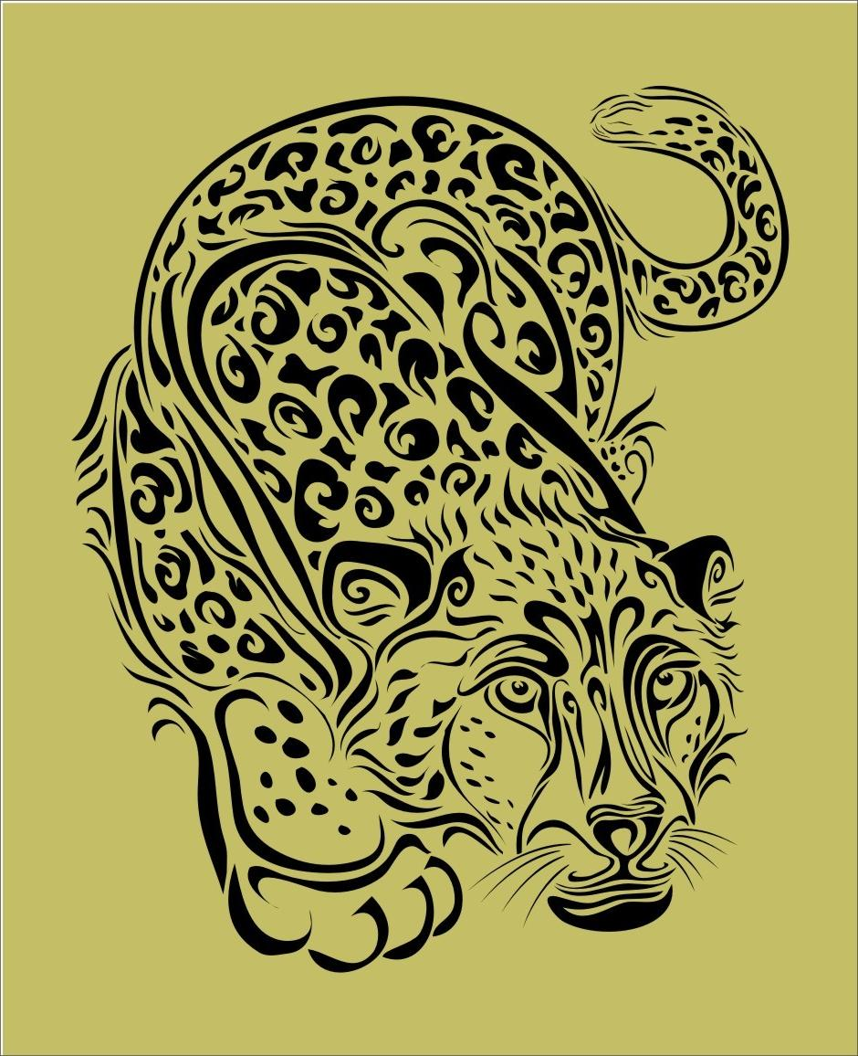 Cheetah Print Stencil Printable - Viewing Gallery
