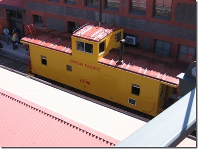 IMG_2858 Union Pacific CA-4 Caboose #25198 at Union Station in Portland, Oregon on May 8, 2010