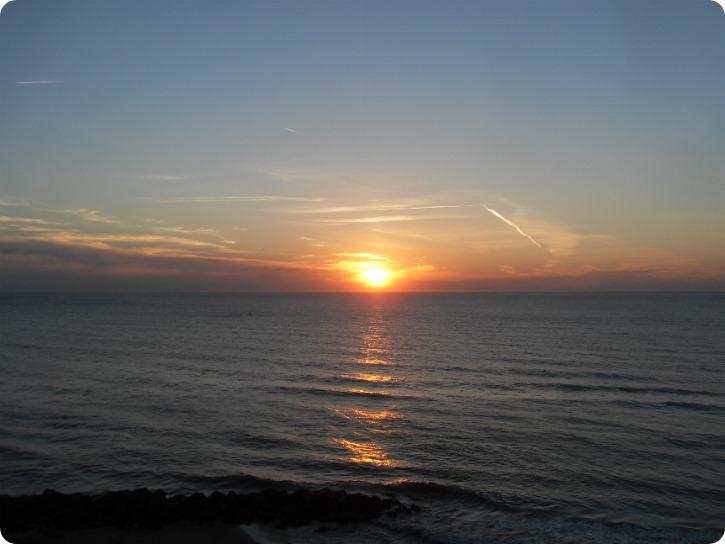 Solnedgang ved Lønstrup