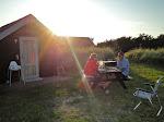 Aftensmad på campingpladsen i Klitmøller