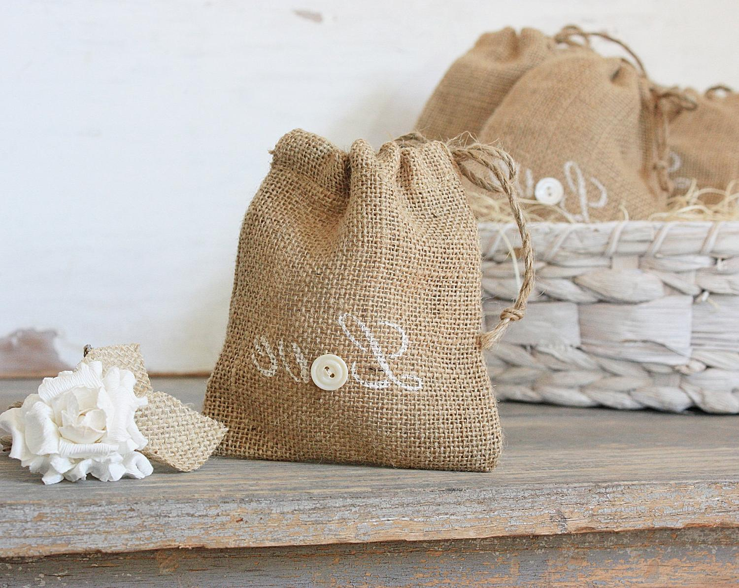 Buttons and Burlap Rustic