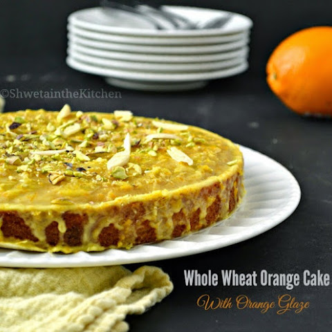 Whole Wheat Orange Cake with Orange Glaze