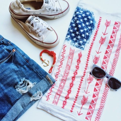 Memorial Day Outfit: Stilettos and Diapers