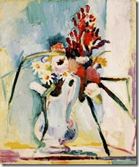 Matisse, flowers in a pitcher, 1906
