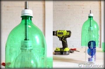 Criando luminária com Pet e cimento-08