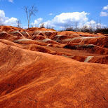 red as red at Cheltenham Badlands in Ontario, Canada in Caledon, Ontario, Canada