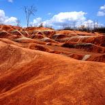 red as red at Cheltenham Badlands in Ontario, Canada in Caledon, Ontario, Canada