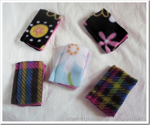5 Needle Books Made with Fleece