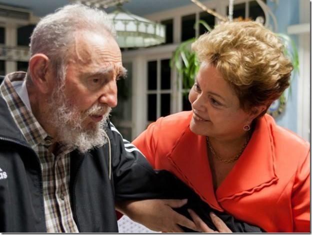 Que Gracinha... - Dilma e Fidel - www.rsnoticias.net